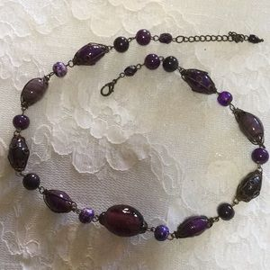 Cabochon Amethyst Necklace